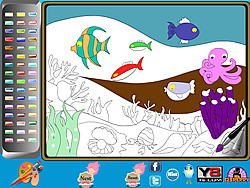 Undersea Life Online Coloring Page