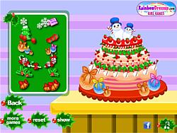 Frozen Christmas Cake