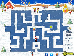Santa Skating Maze