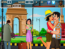 Tourist Kissing