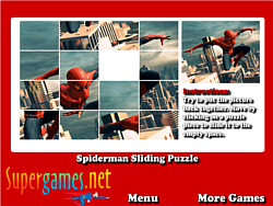 Spiderman Sliding Puzzles