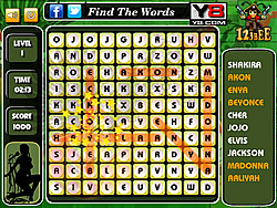 Pop Singer Word Search