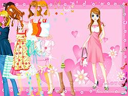 Pink Heart Dressup